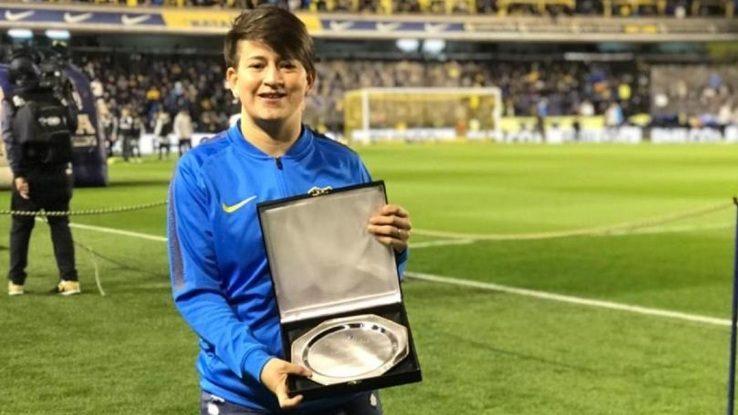 Yamila Rodríguez recibió una plaqueta por la medalla obtenida en los Panamericanos
