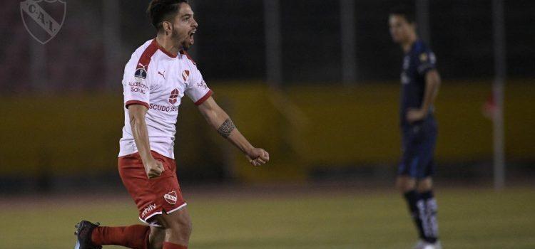 Martín Benítez convirtió en la clasificación de Independiente
