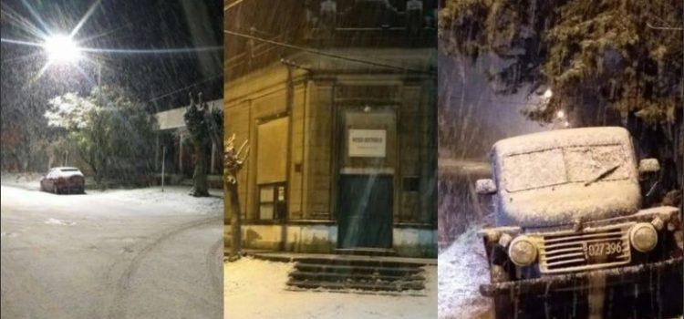 Nevó en Necochea y otros partidos Bonaerenses