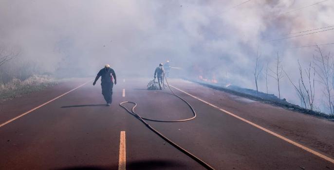 Incendios forestales en Andresito: denuncian que fueron intencionales