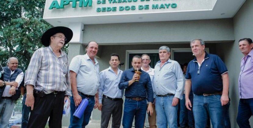 Herrera Ahuad inauguró la sub-sede de la Asociación de Plantadores de Tabaco de Misiones en Dos de Mayo