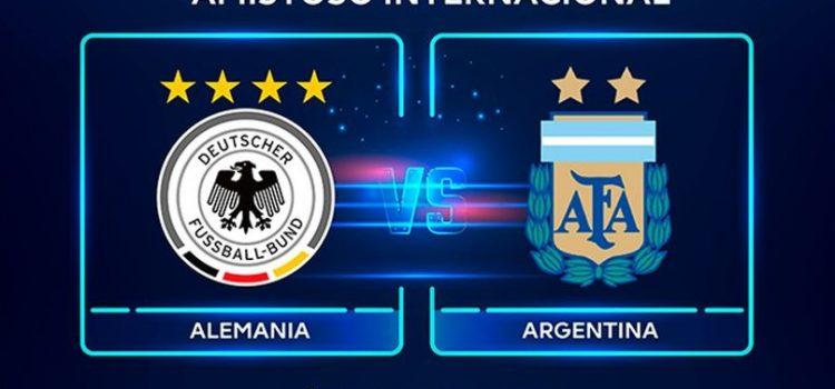 Argentina-Alemania: horario, TV y formaciones del amistoso internacional en Dortmund
